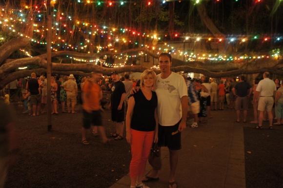 Lahaina Banyan Tree with Christmas Lights