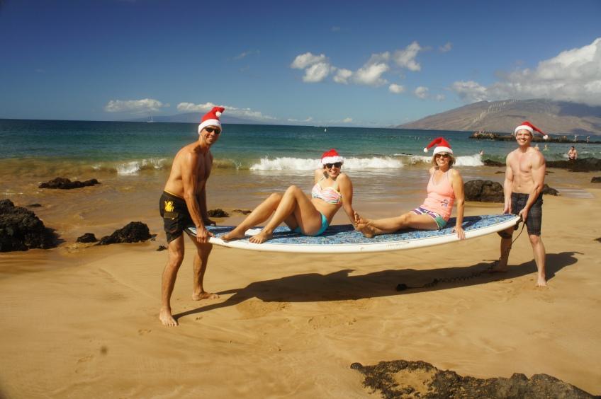 Family Christmas fun on Maui
