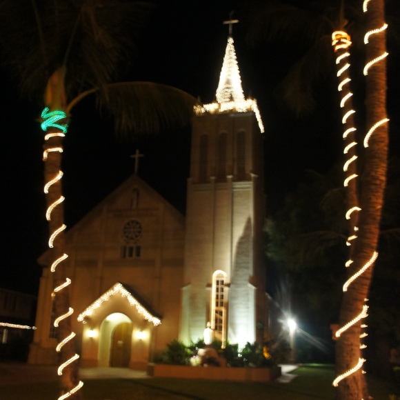 Lahaina Maui Church at Christmas