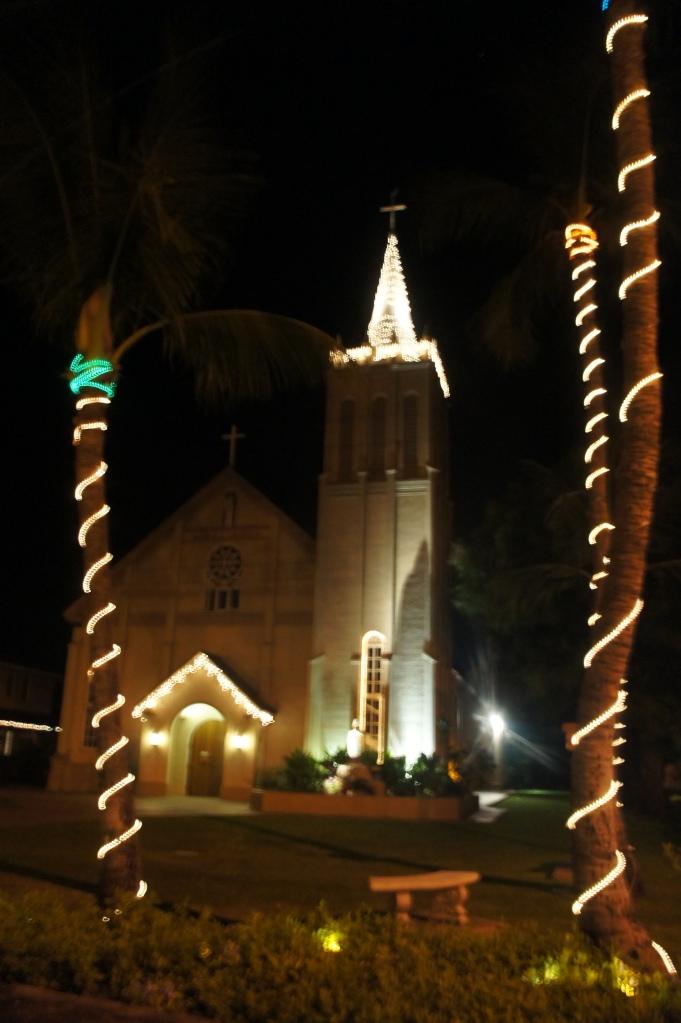 Lahaina Maui Church at Christmas
